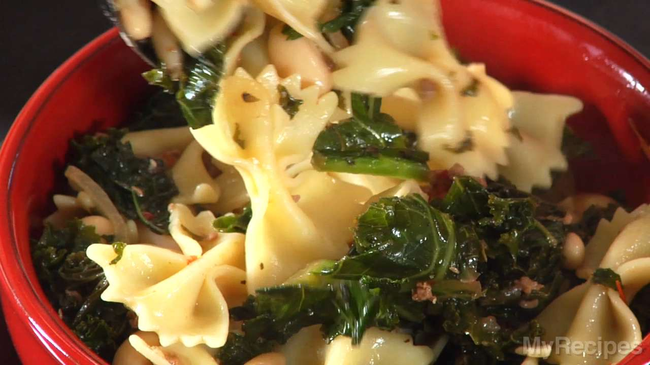 Farfalle with Sausage, Cannelli Beans and Kale