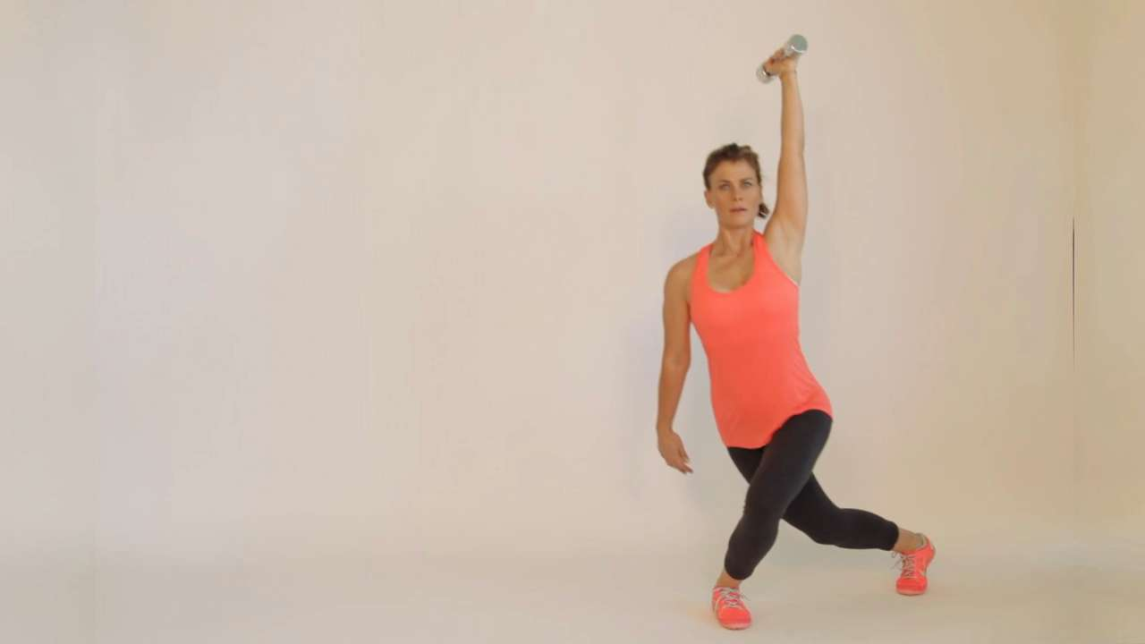 Side lunge to curtsy