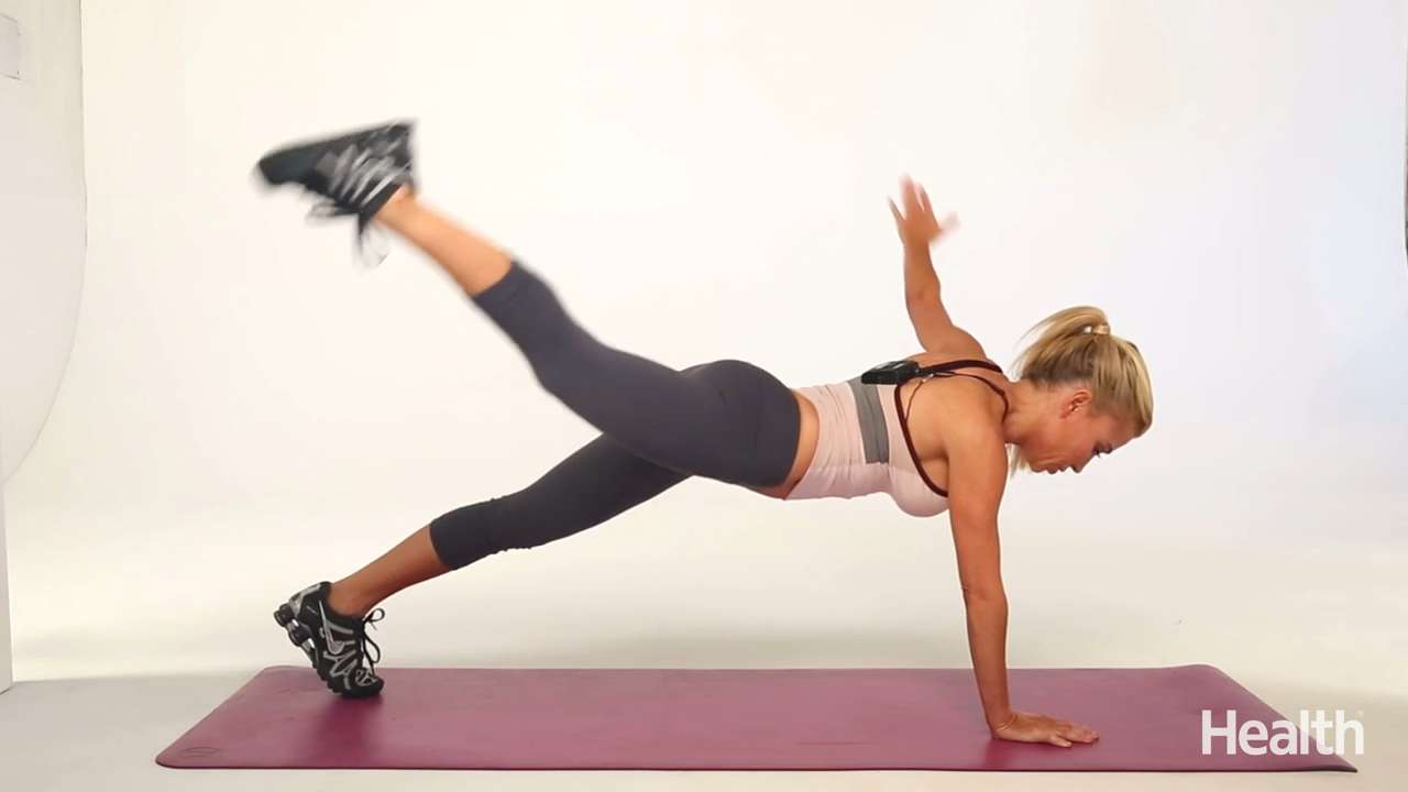 Plank with arm/leg lift