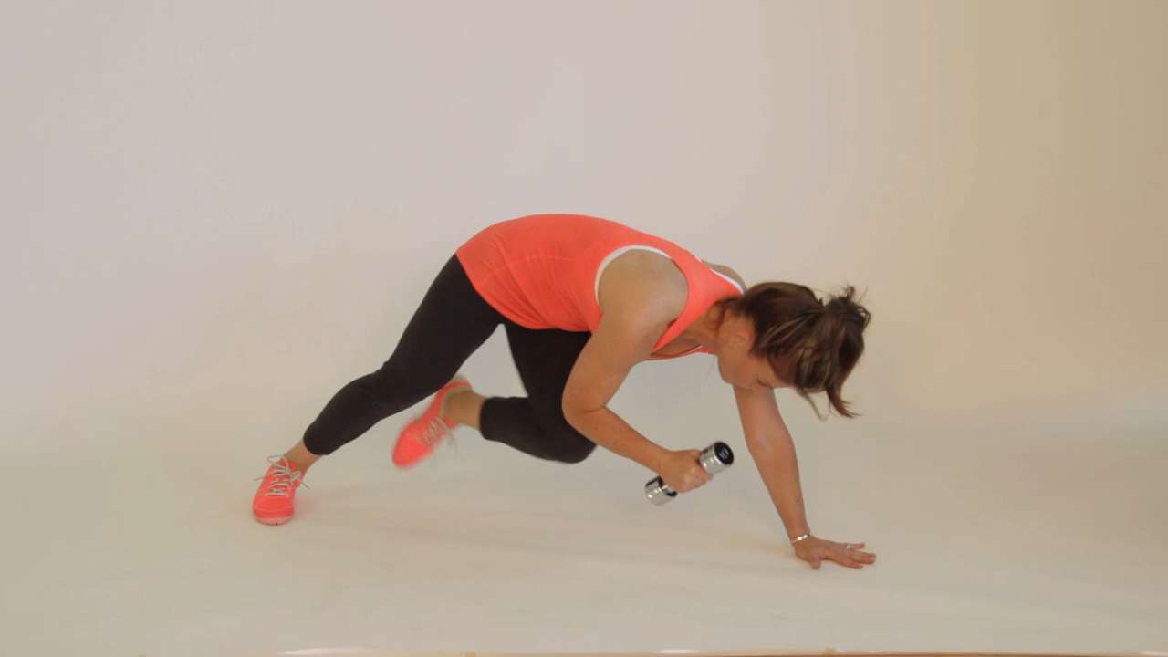 Plank with opposite limb extension