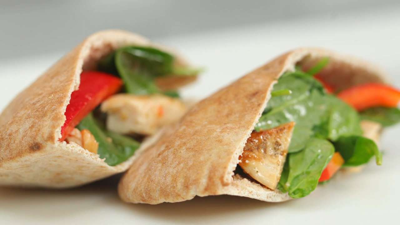 Chicken and Veggie Pita
