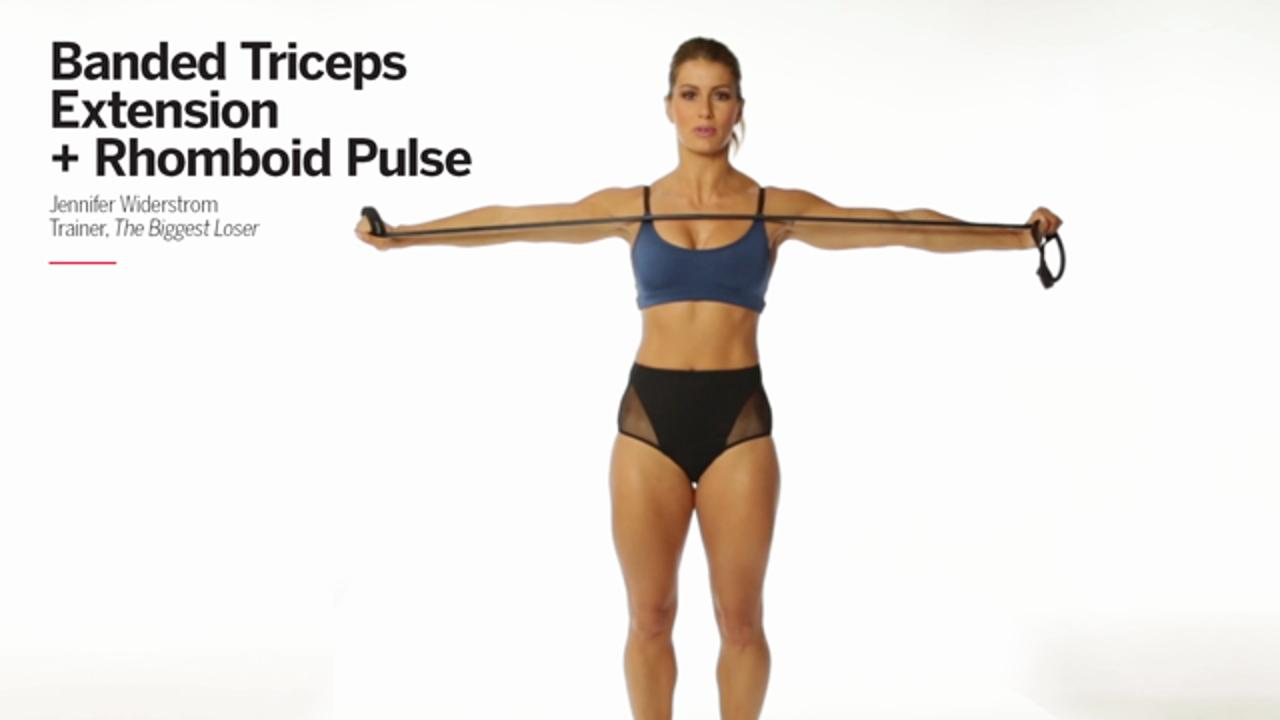 Banded Triceps Extension + Rhomboid Pulse
