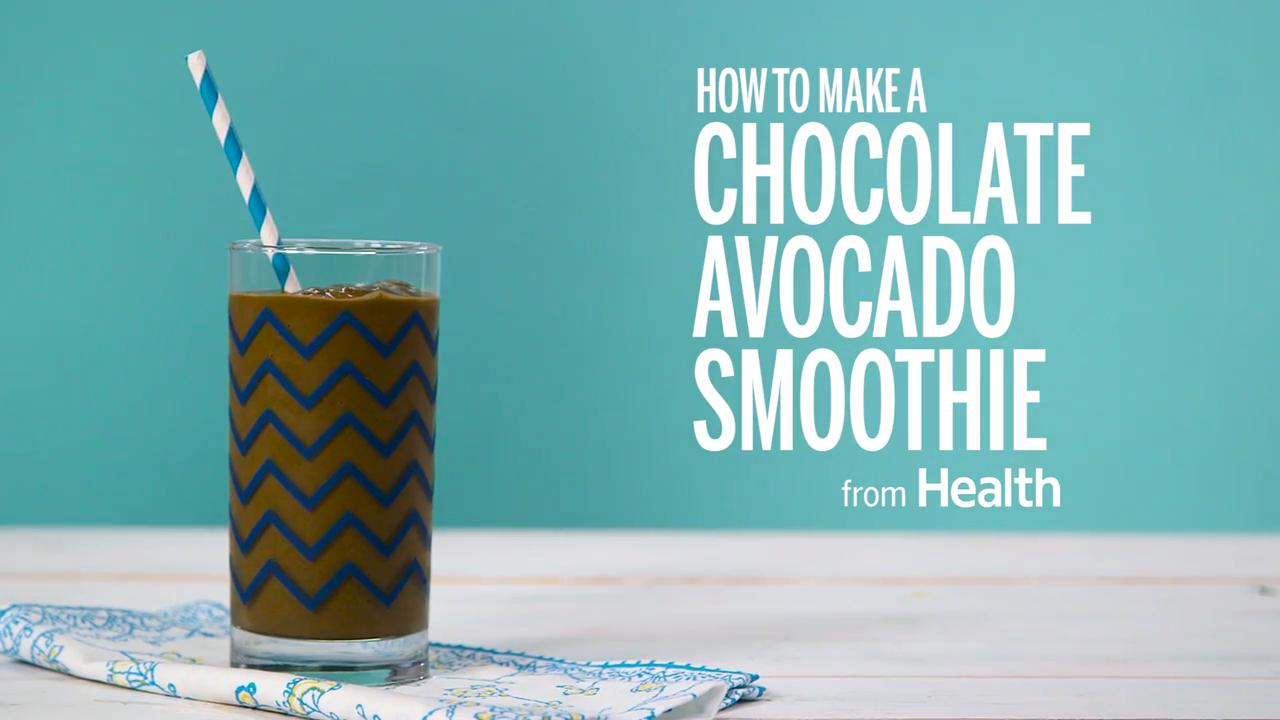 How to Make a Chocolate Avocado Smoothie