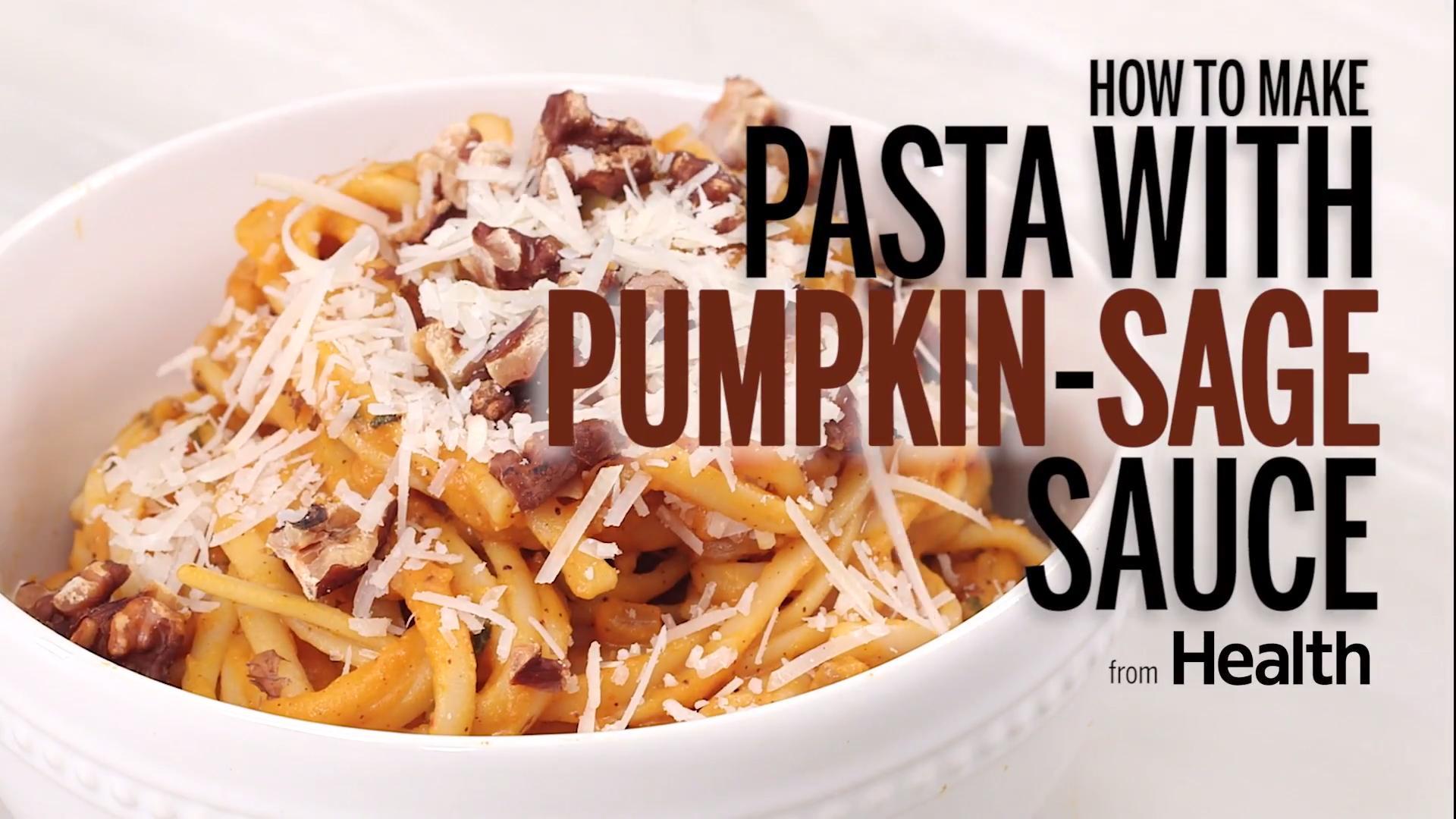 Pasta With Pumpkin Sage Sauce