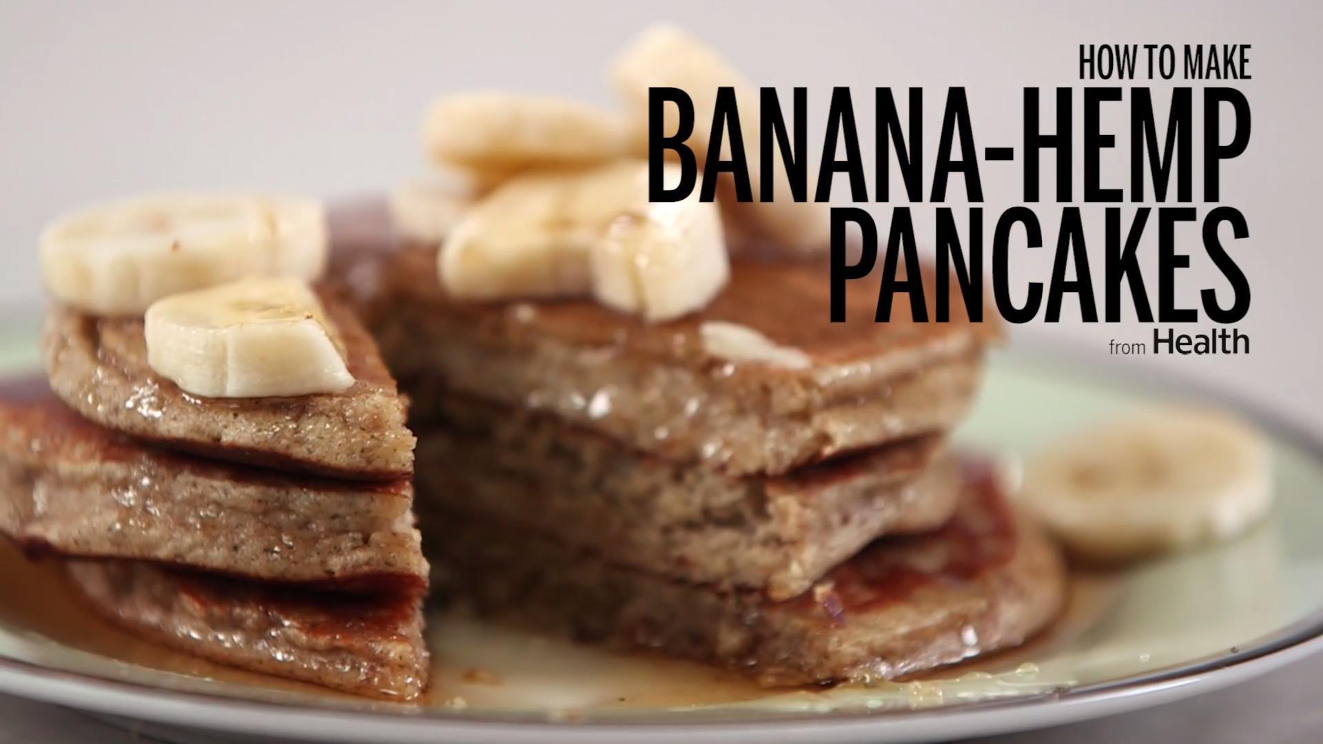 Banana Hemp Pancakes