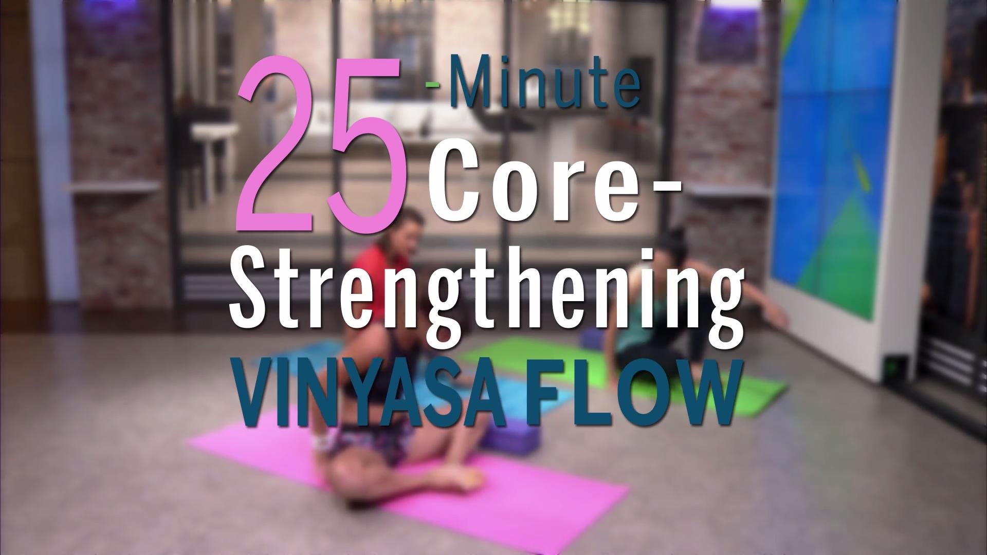 A core-strengthening vinyasa flow