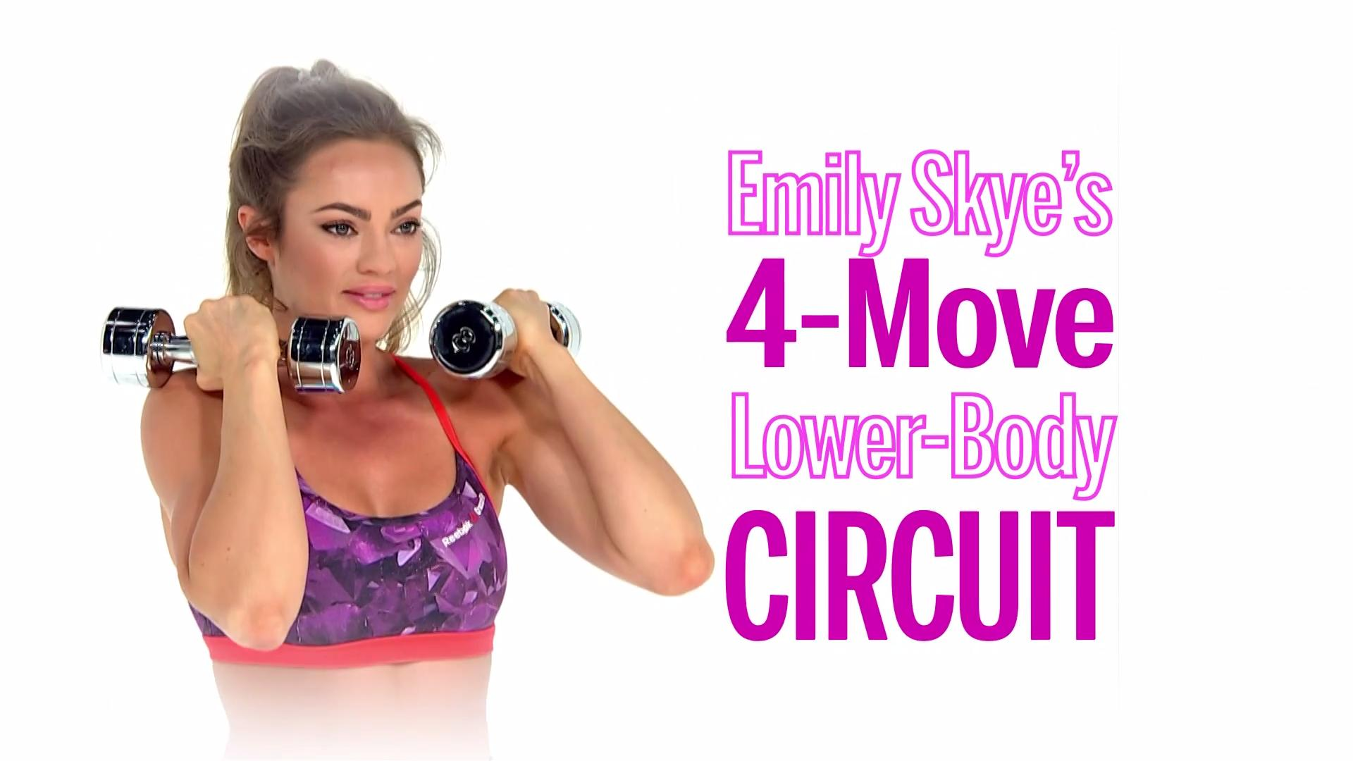 Emily Skye's 4-Move Lower-Body Circuit