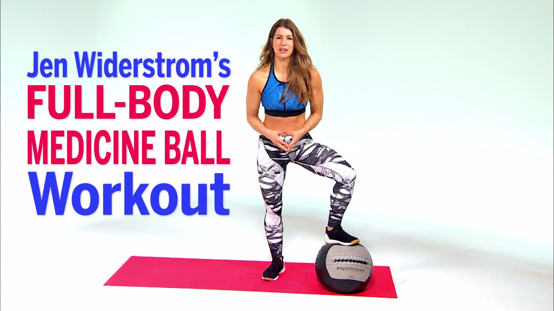 Jen Widerstroms Medicine Ball Workout Health Superset Get Results Even Faster With This Intense Circuit