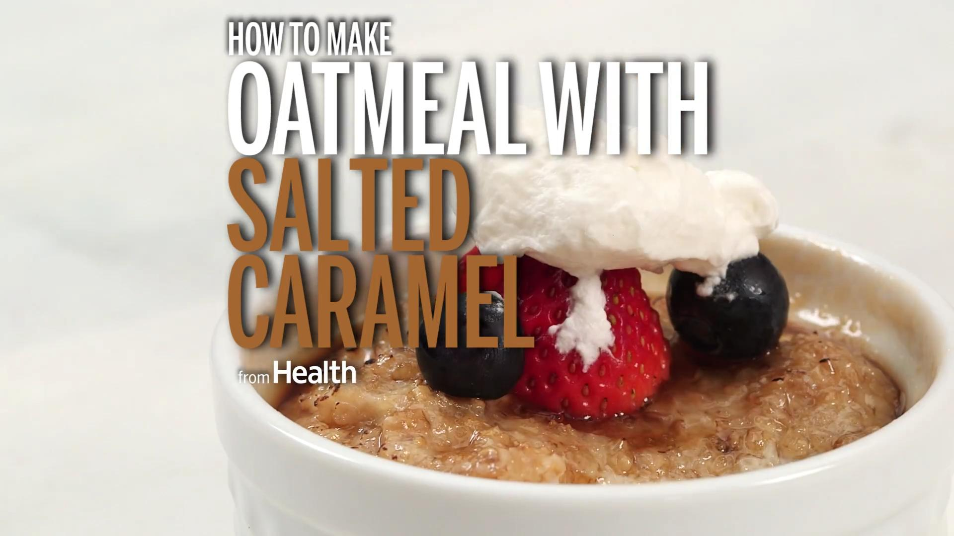 Steel-Cut Oatmeal with Salted Caramel Topping