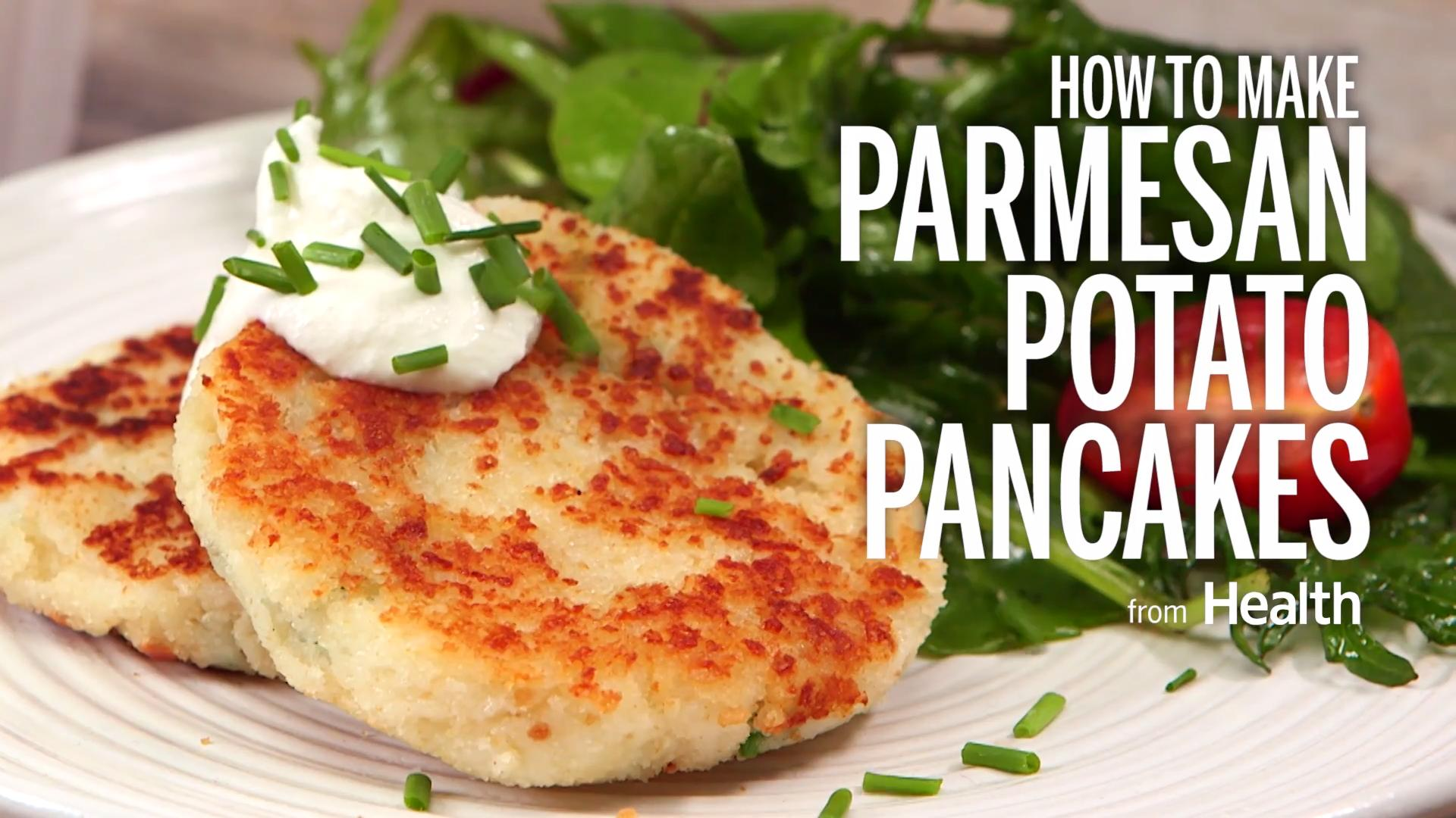 Parmesan potato pancakes recipe health ccuart Image collections