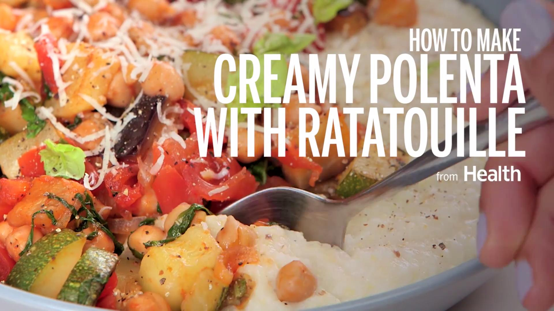 Creamy Polenta with Ratatouille