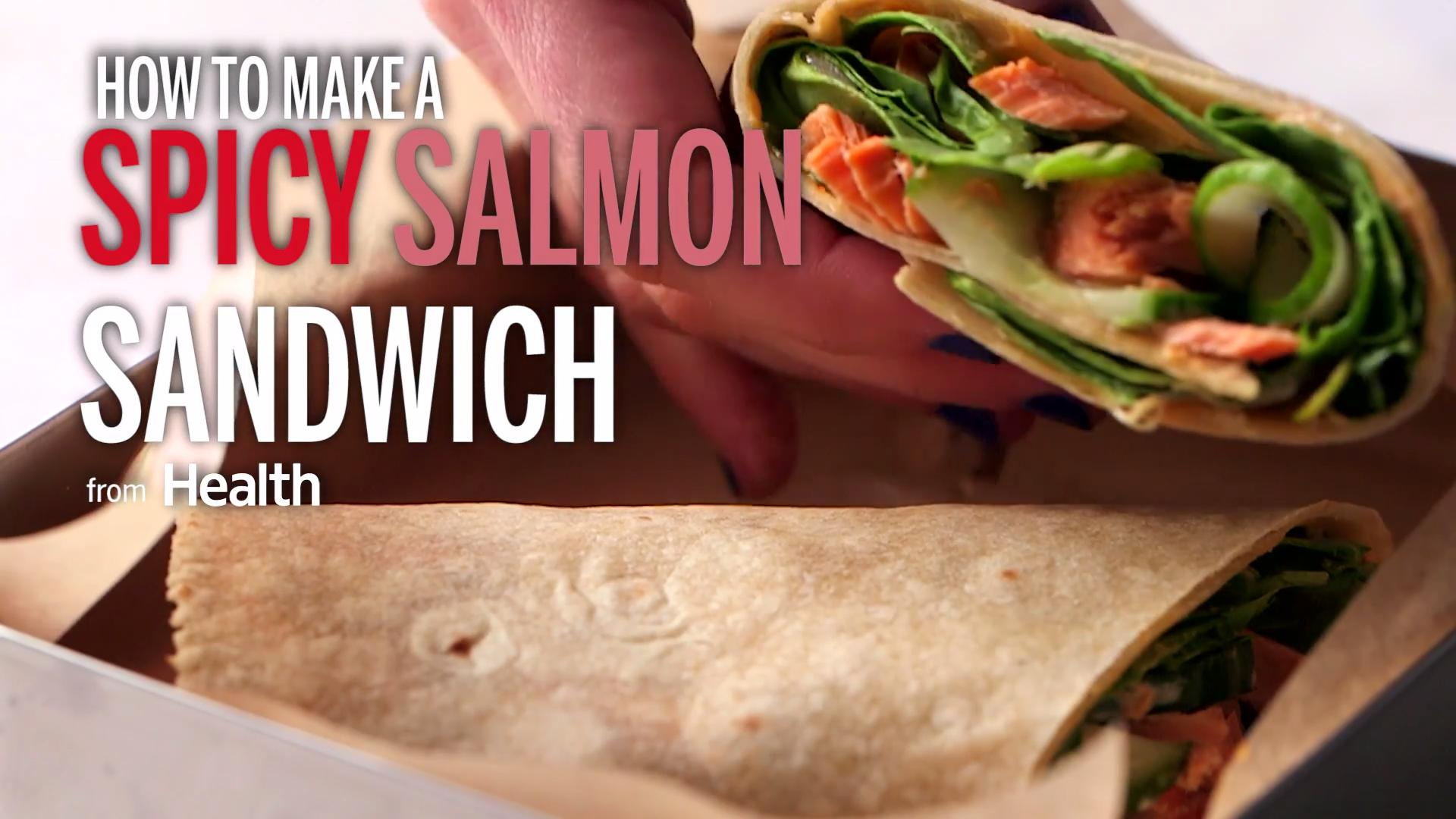 Spicy Salmon Wrap