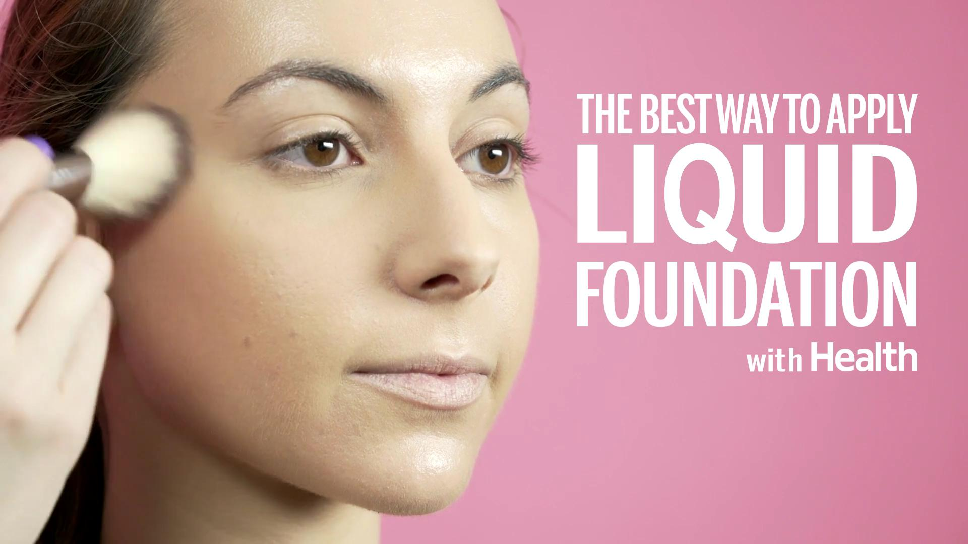 Best way to put foundation on face