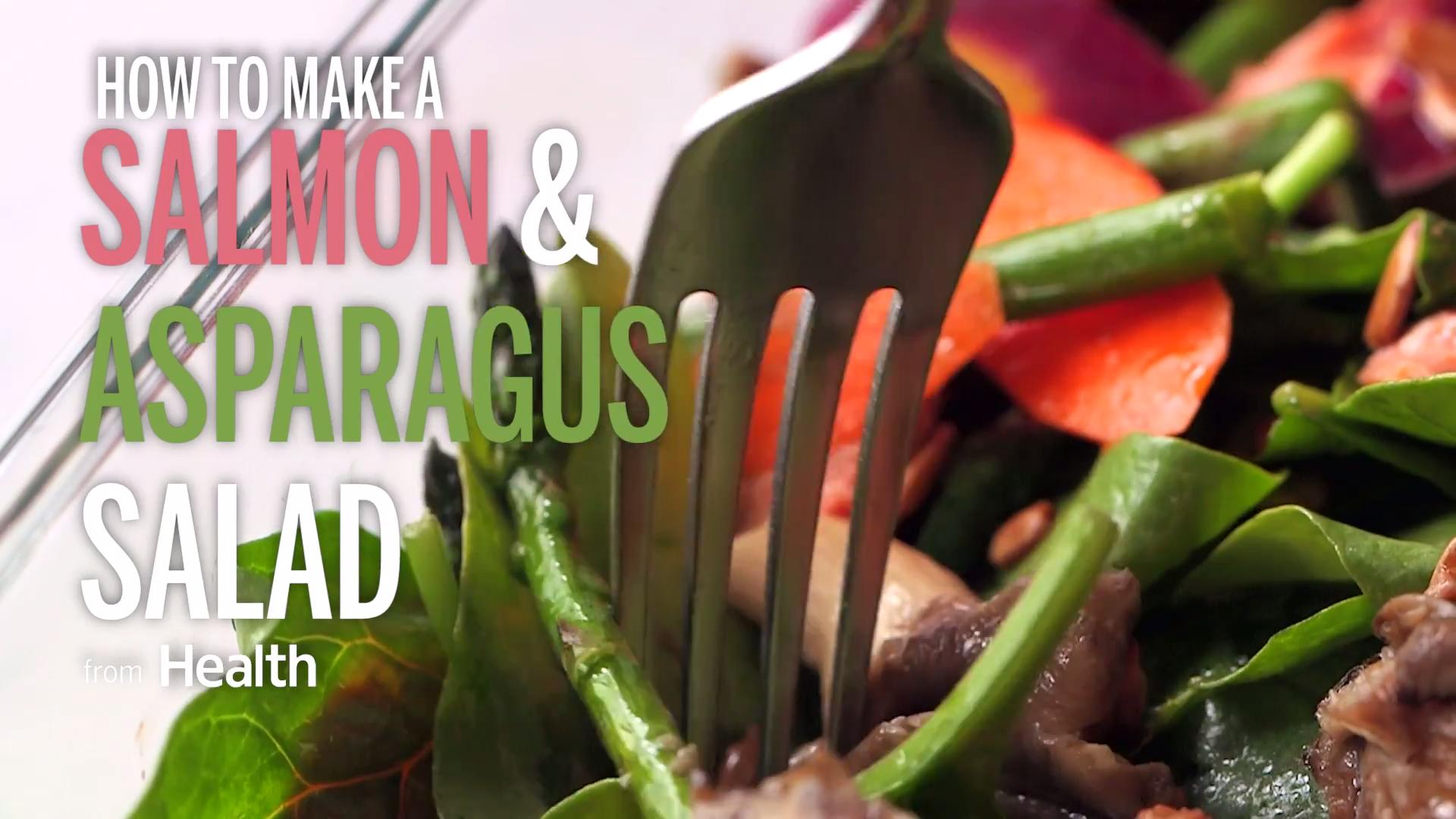 Salmon & Arugula Salad With Bagel Croutons & Dilly Dressing
