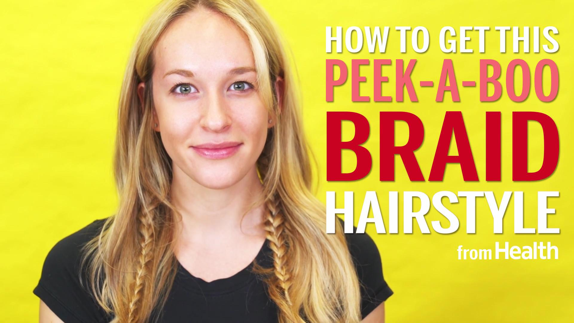 How to do a peek-a-boo braid hairstyle