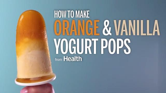 Orange and Vanilla Yogurt Pops