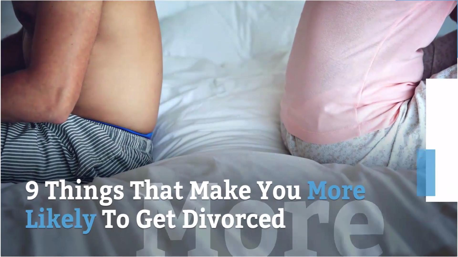 Divorce risk factors