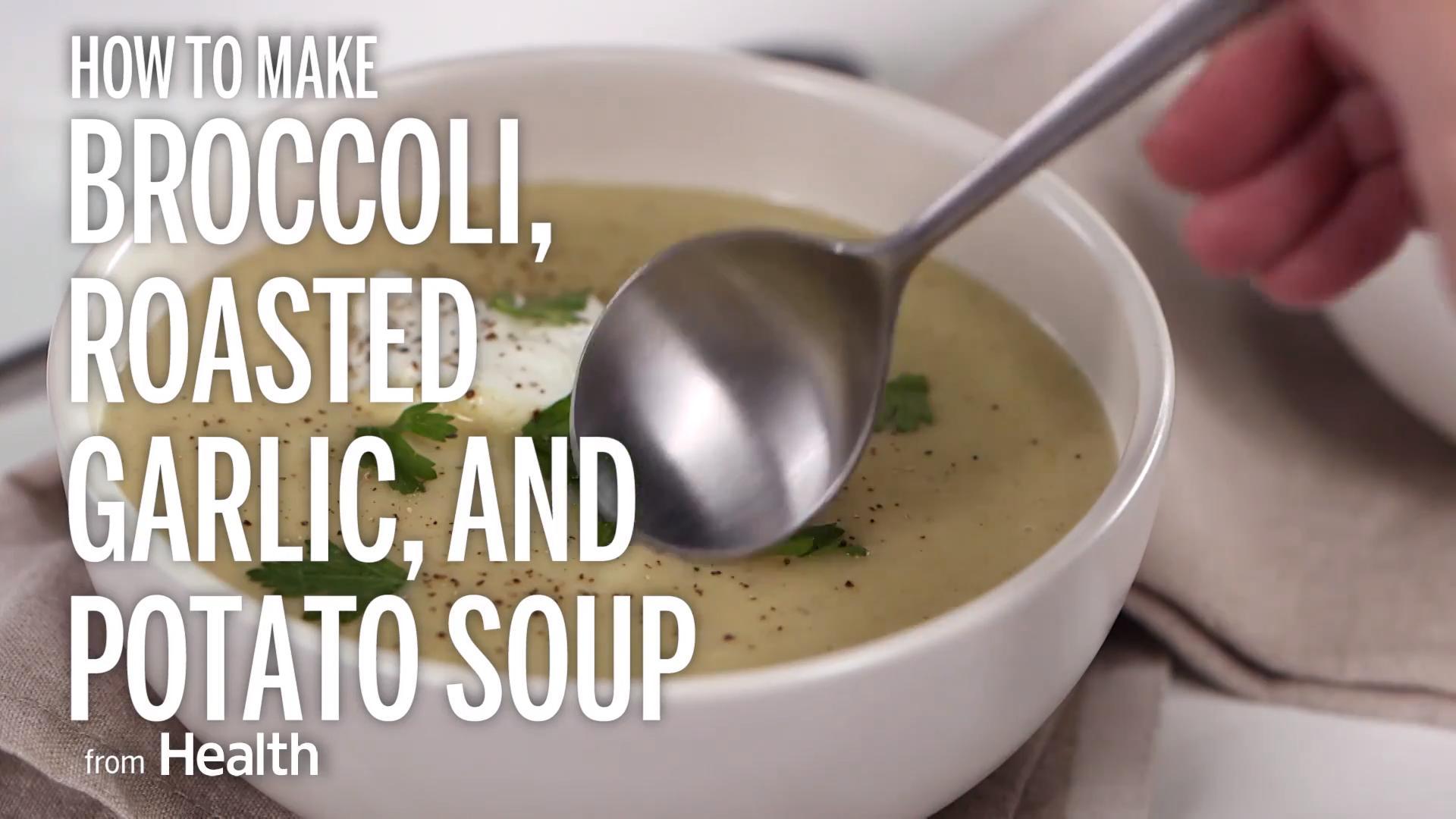 Broccoli, Roasted Garlic, and Potato Soup