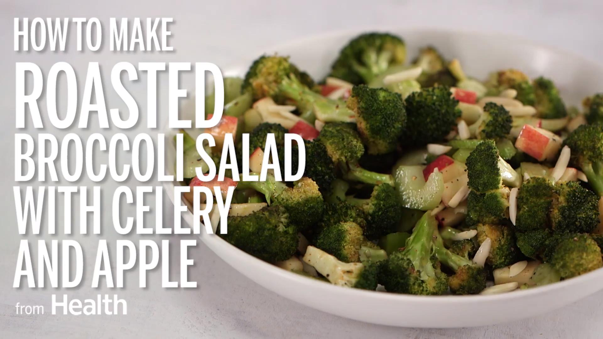 Roasted Broccoli Salad With Celery and Apple