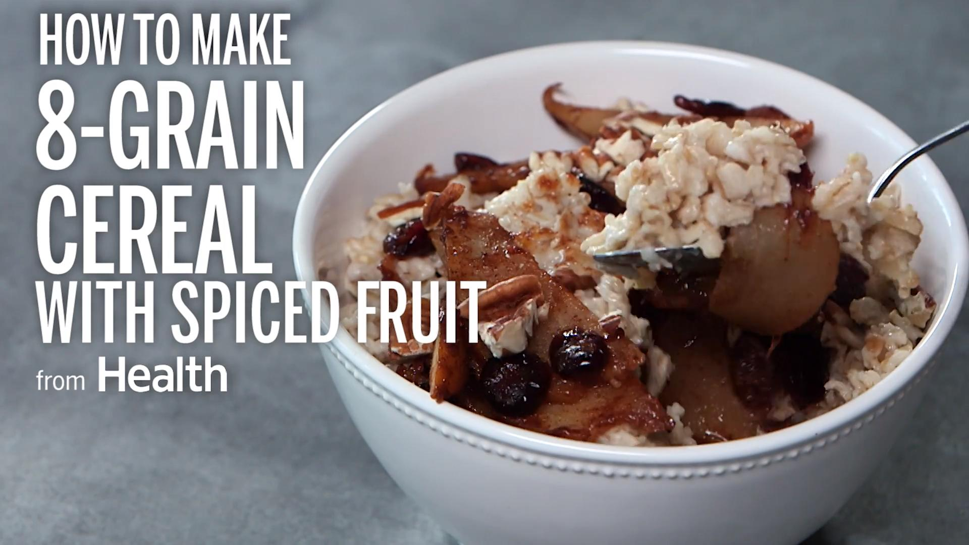 8-Grain Cereal With Spiced Fruit
