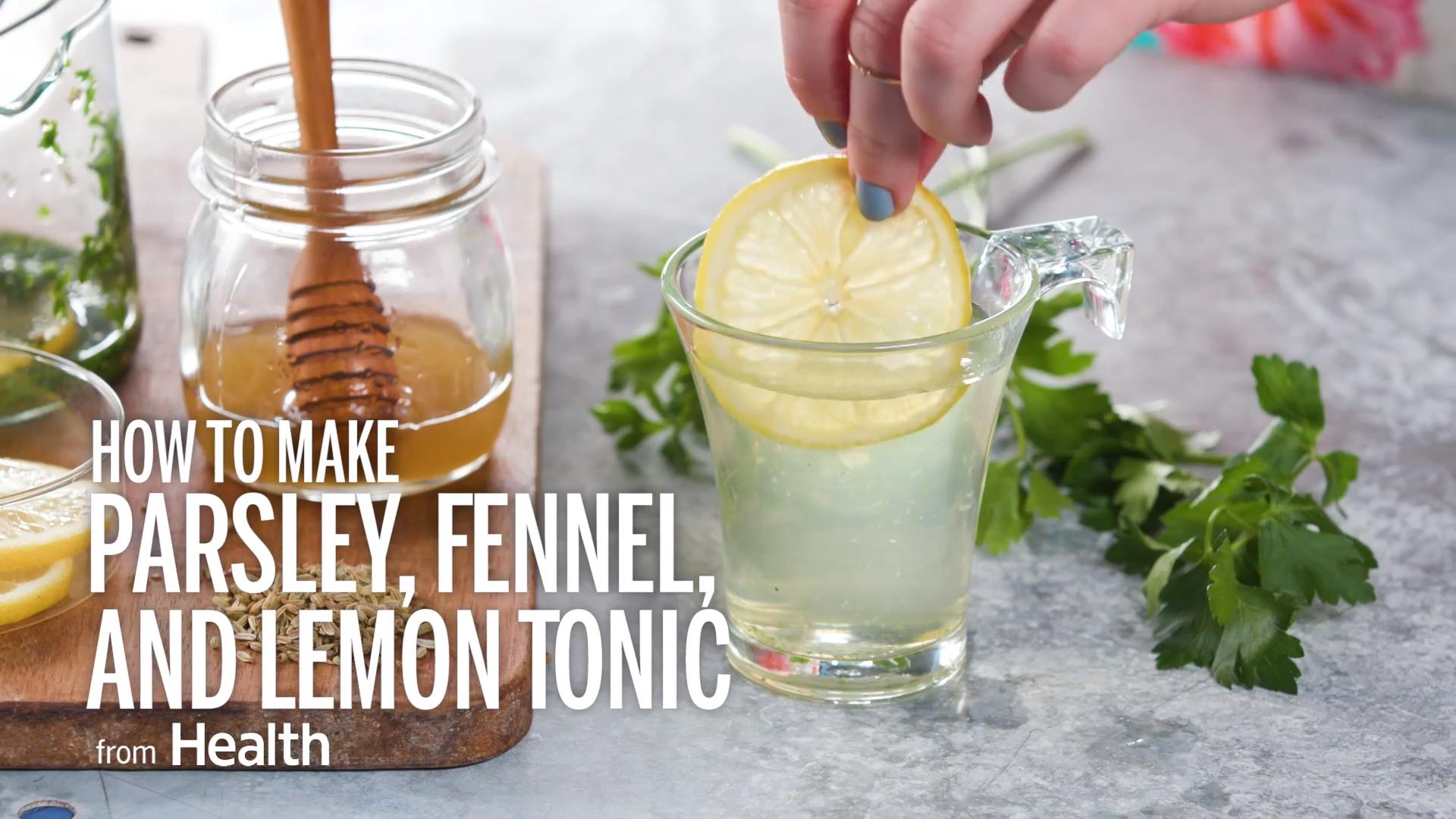 Parsley, fennel, and lemon tonic