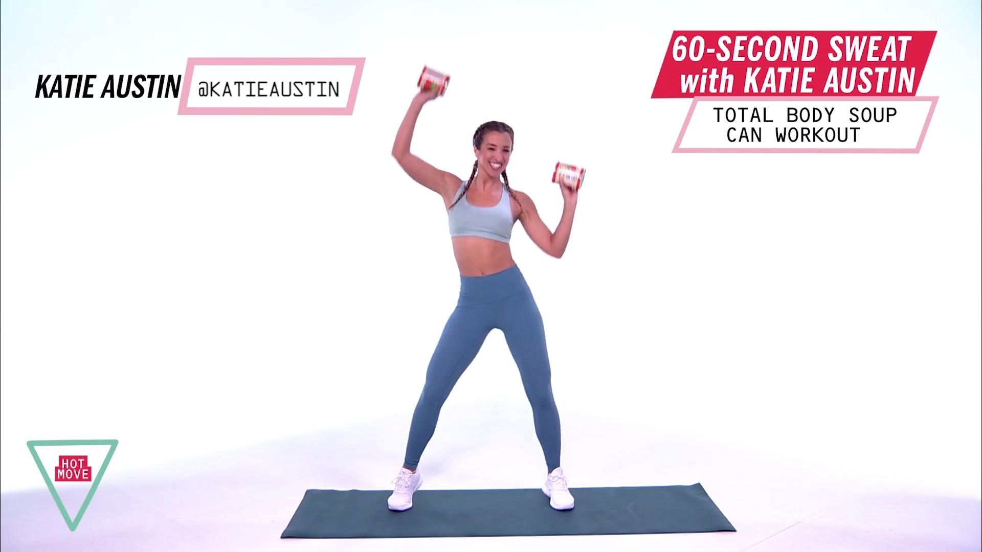This Katie Austin Full-Body Workout Only Requires 60 Seconds and 2 Soup Cans