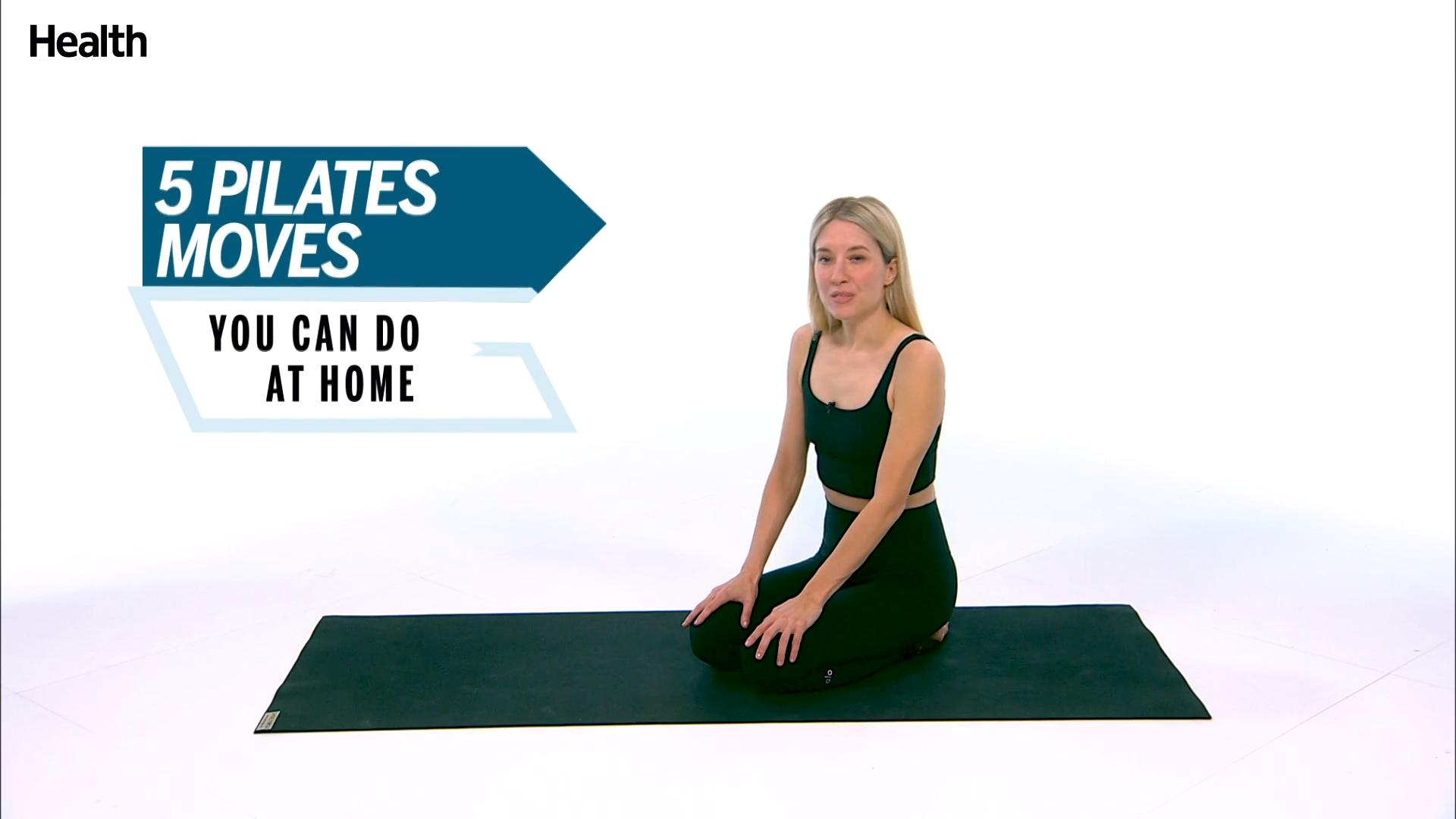 Karen Lord Demonstrates 5 Pilates Exercises You Can Do at Home
