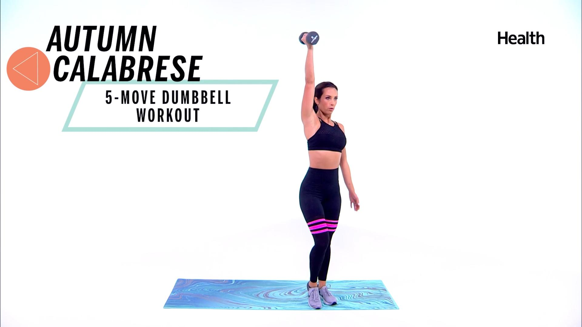 5 Dumbbell Workouts From Autumn Calabrese that Will Tone Your Entire Body