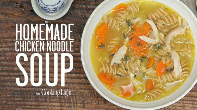 Heat up chicken soup
