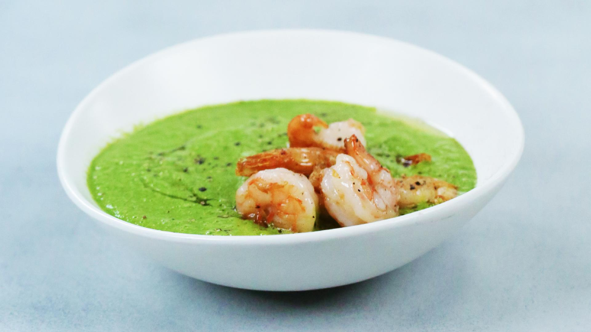 Green Gazpacho with Shrimp - Cooking Light