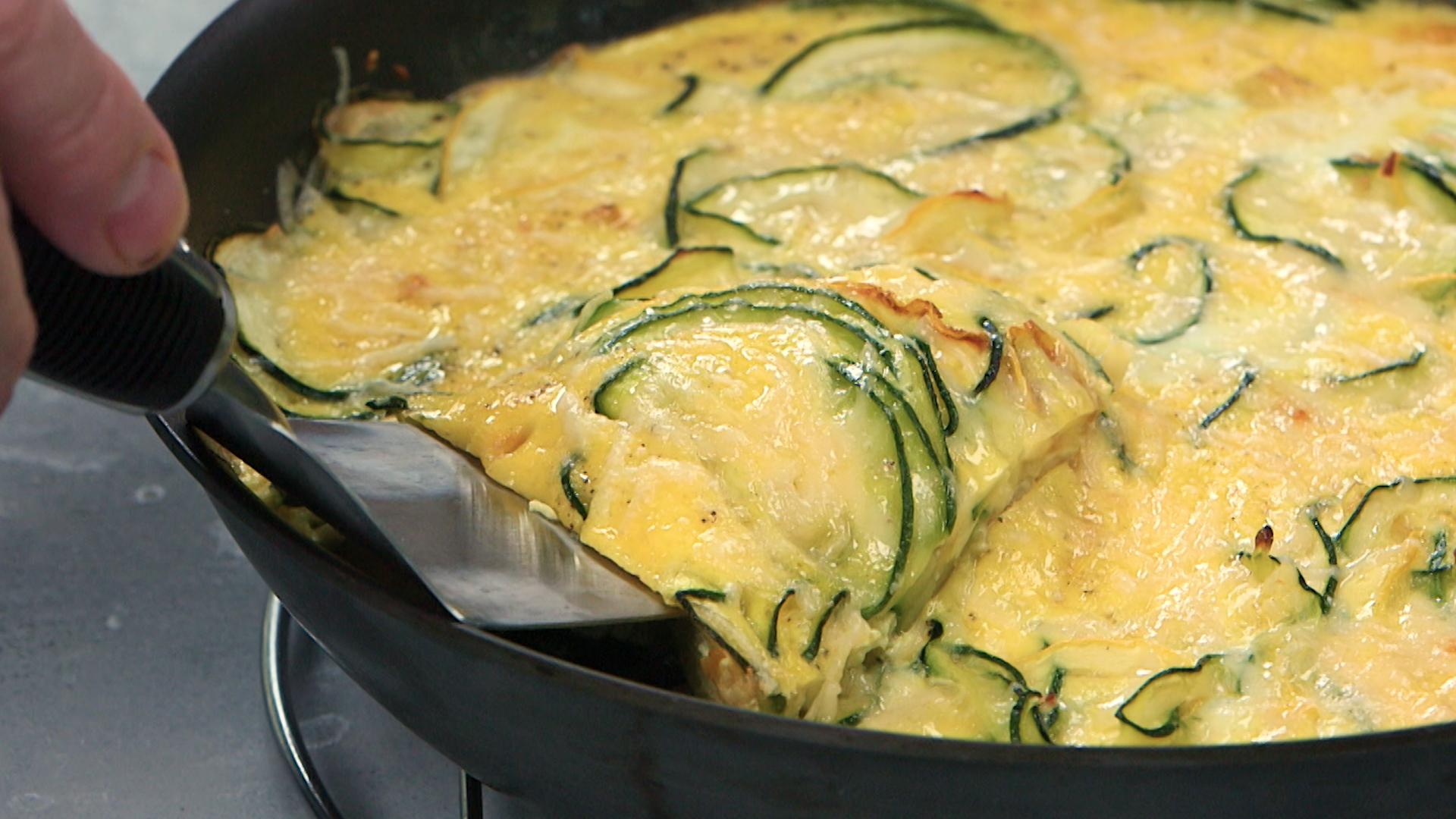 How to Make Spiralized Summer Squash Frittata with Parmesan - Cooking