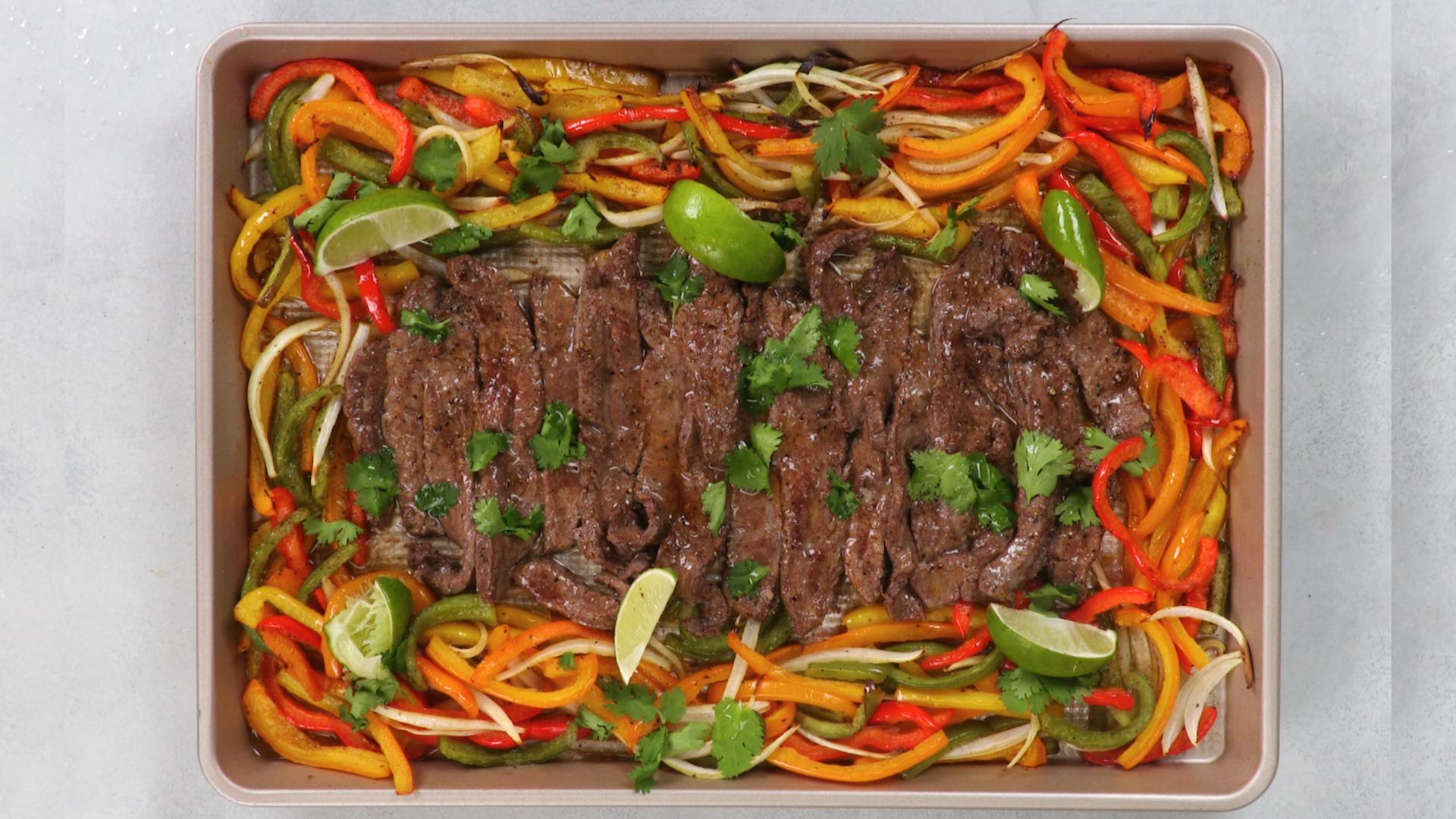 Sheet Pan Steak With Blistered Veggies