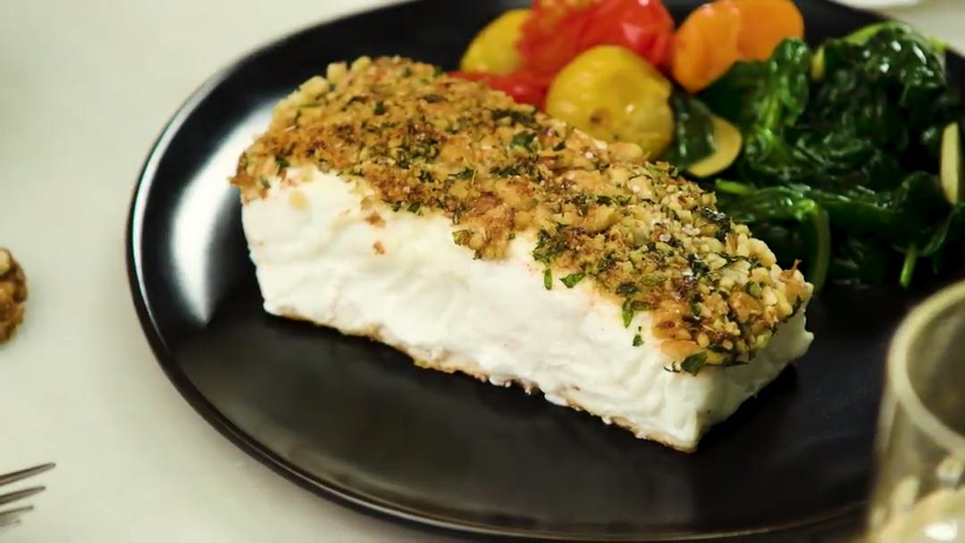 How to Make Walnut Dijon Crusted Halibut - Cooking Light
