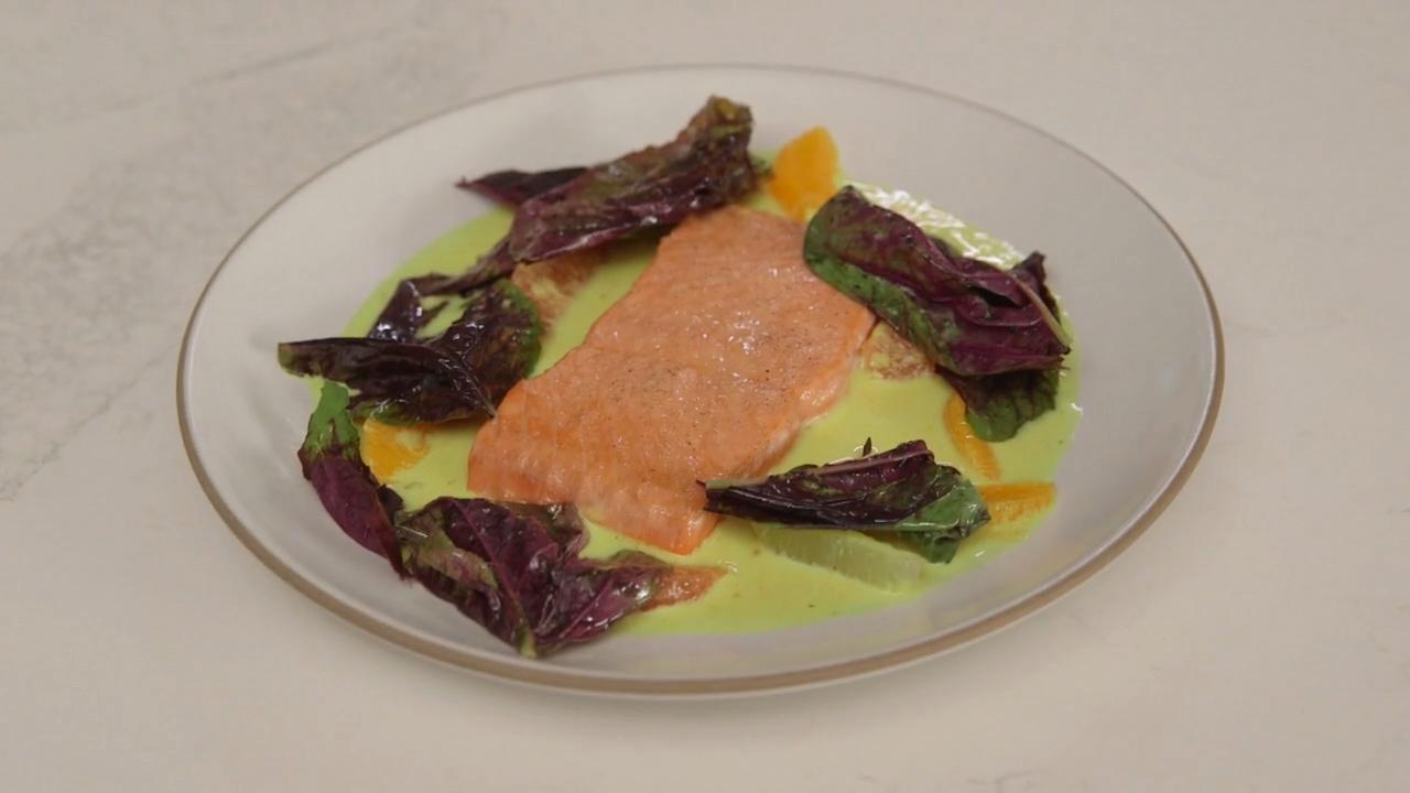 Ludo Lefebvre's Ultimate Seared Salmon with Citrus Sauce