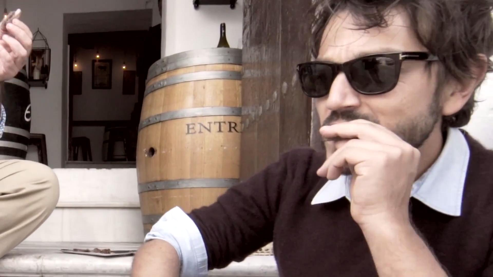 Diego Luna Eats His Way Around Spain in 30 Seconds
