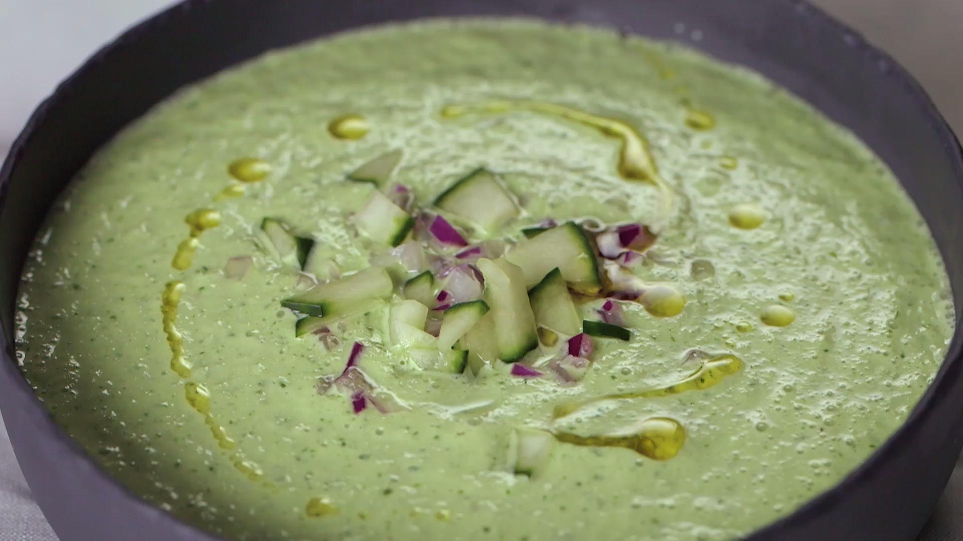 Cold Cucumber Soup With Yogurt And Dill Chilled Soup Recipes