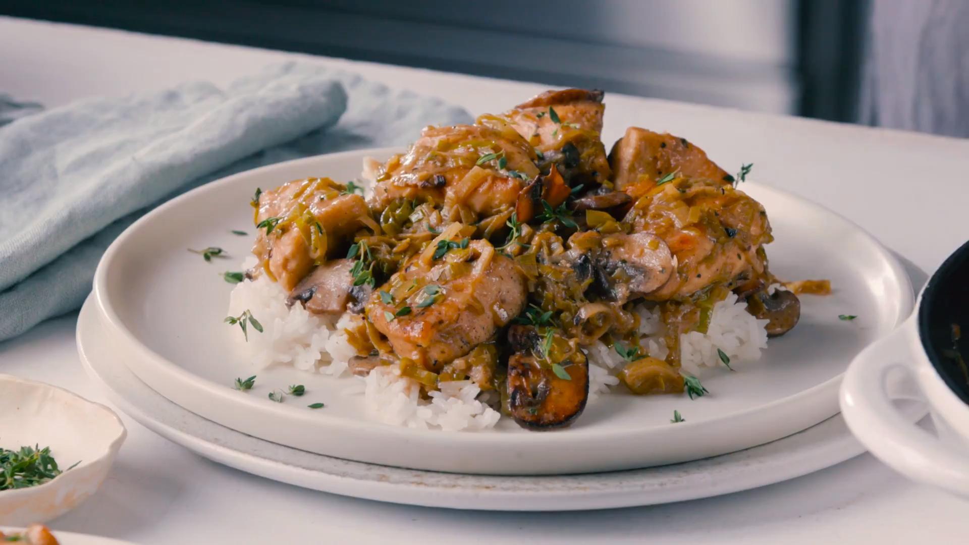 Simplest Chicken-and-Leek Stew