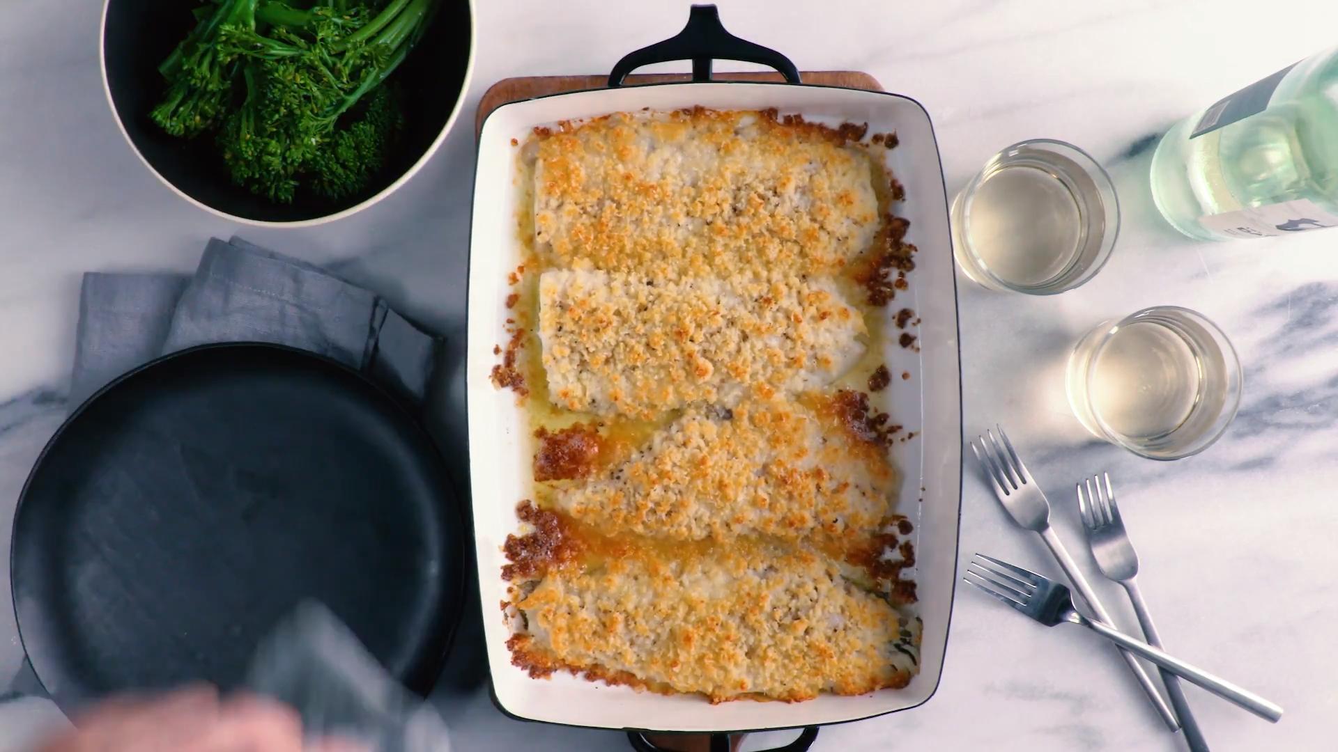 Baked Flounder With Parmesan Crumbs Recipe Nigel Slater Food Wine