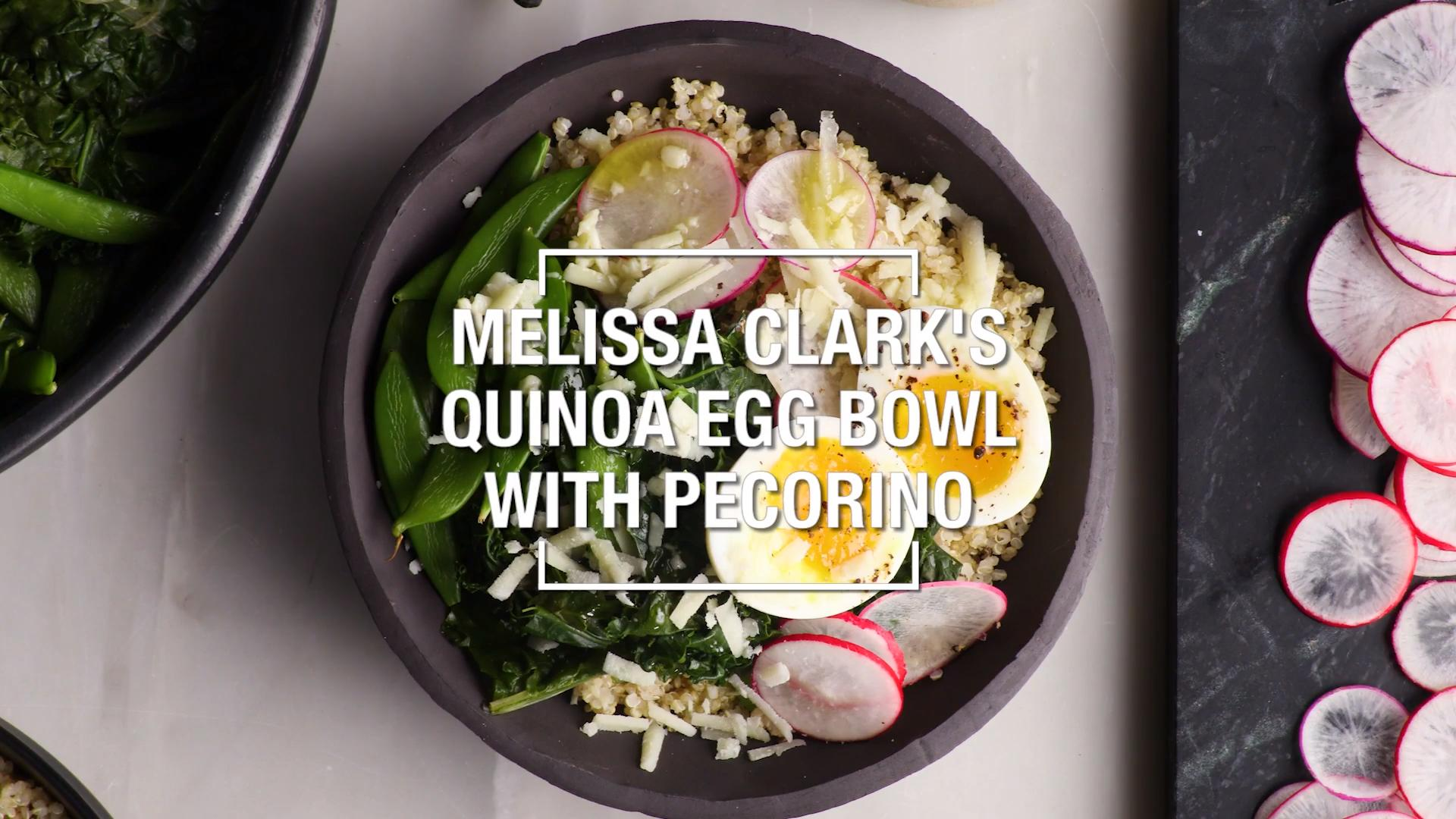 Quinoa Egg Bowl with Pecorino