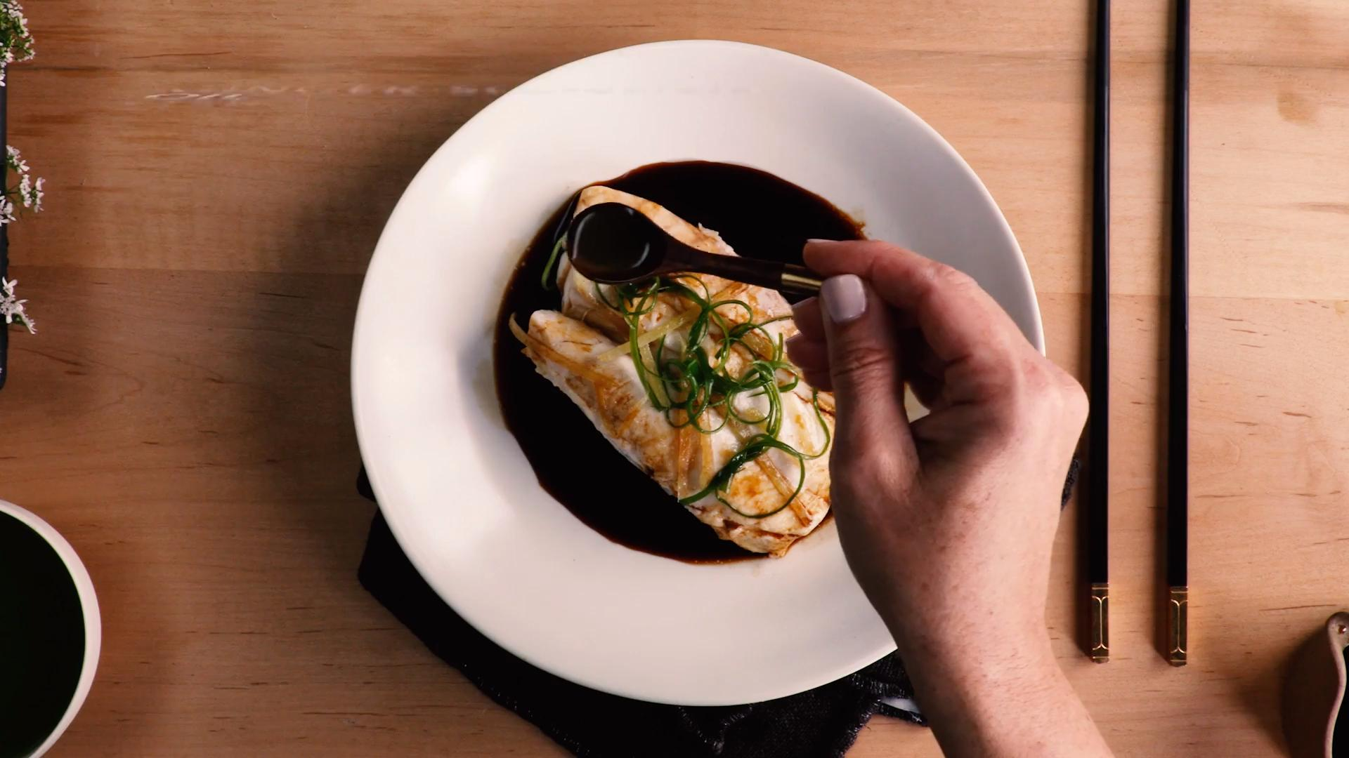 Steamed Fish with Soy Broth