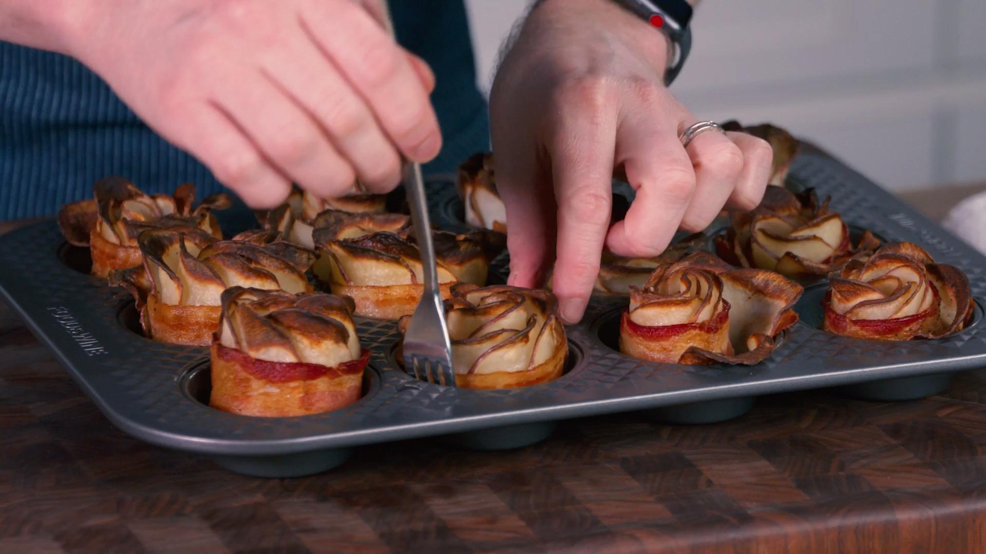 How to Make Bacon Potato Roses