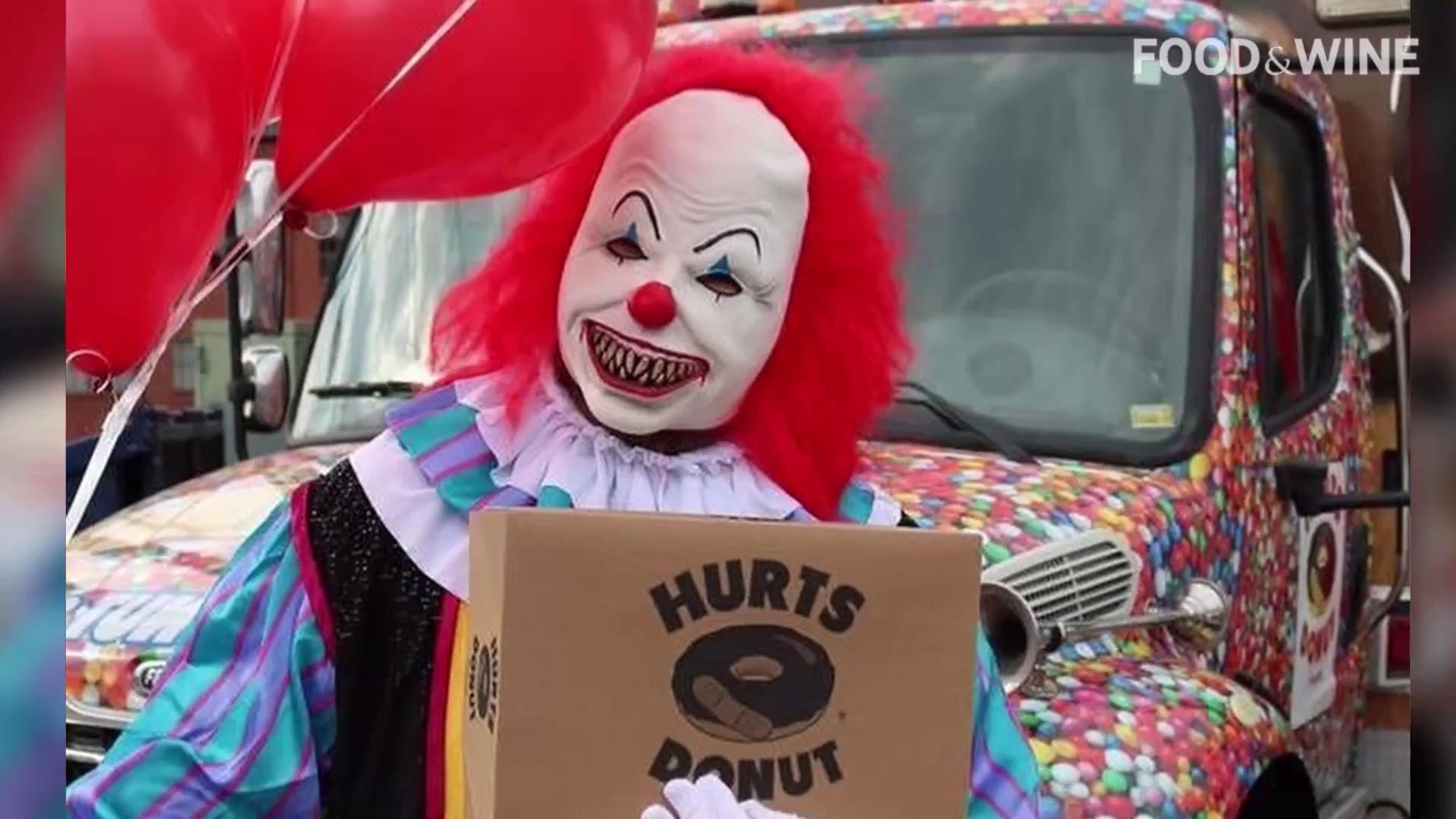 Creepy midget clown