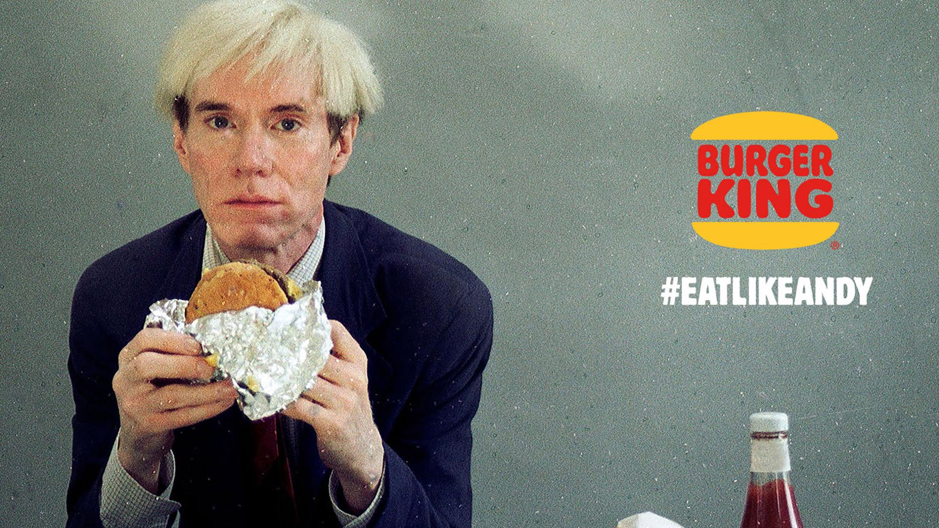 How Burger King Turned Andy Warhol Eating a Whopper into the