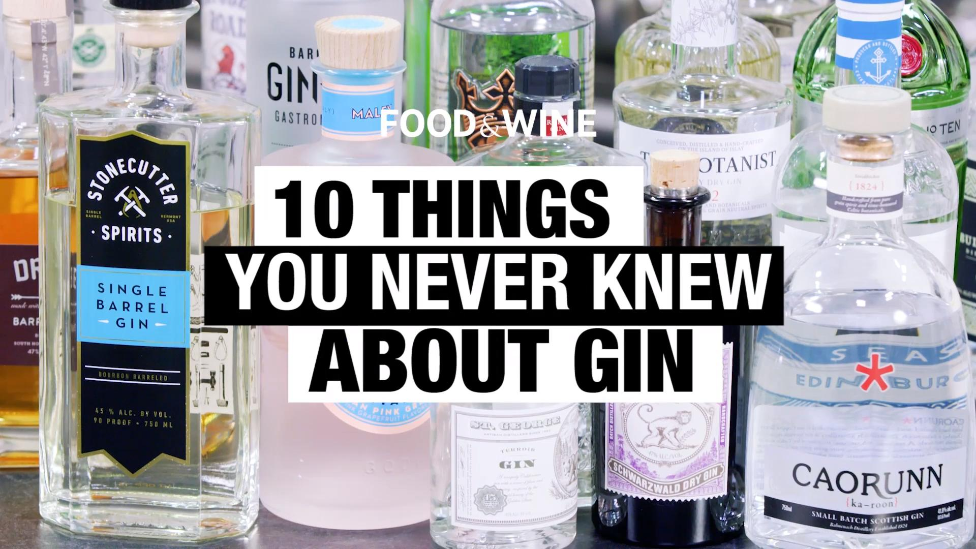 10 Things You Didn't Know About Gin