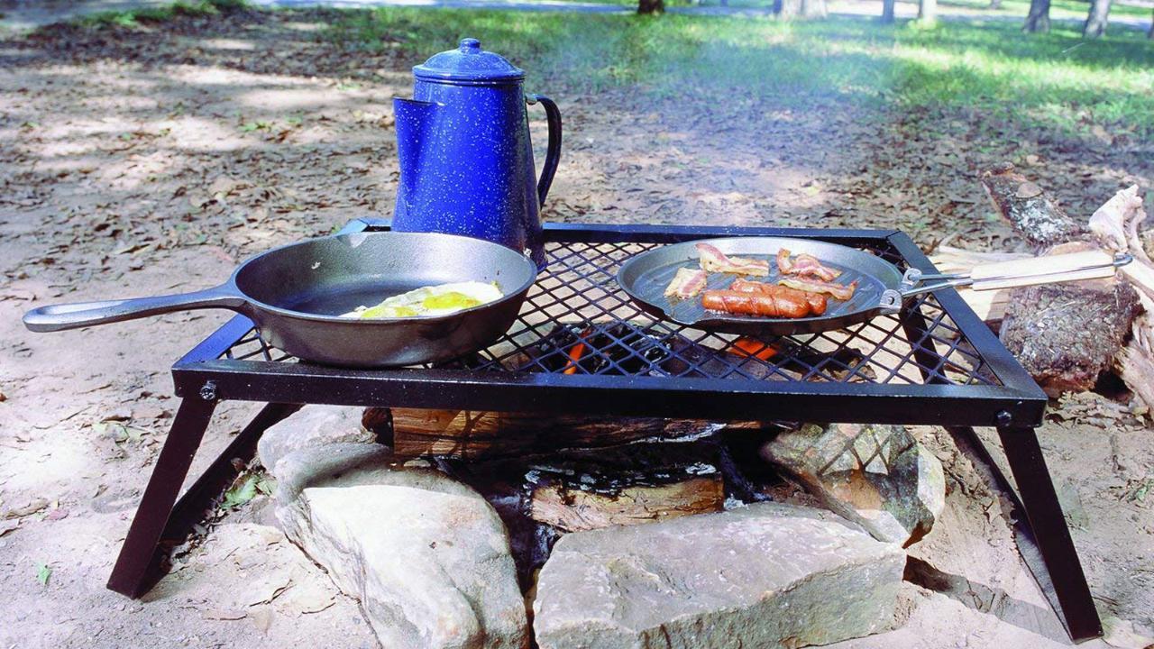 Basics Heavy Duty Folding Campfire Grill