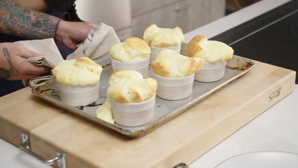 Goat Cheese Soufflé