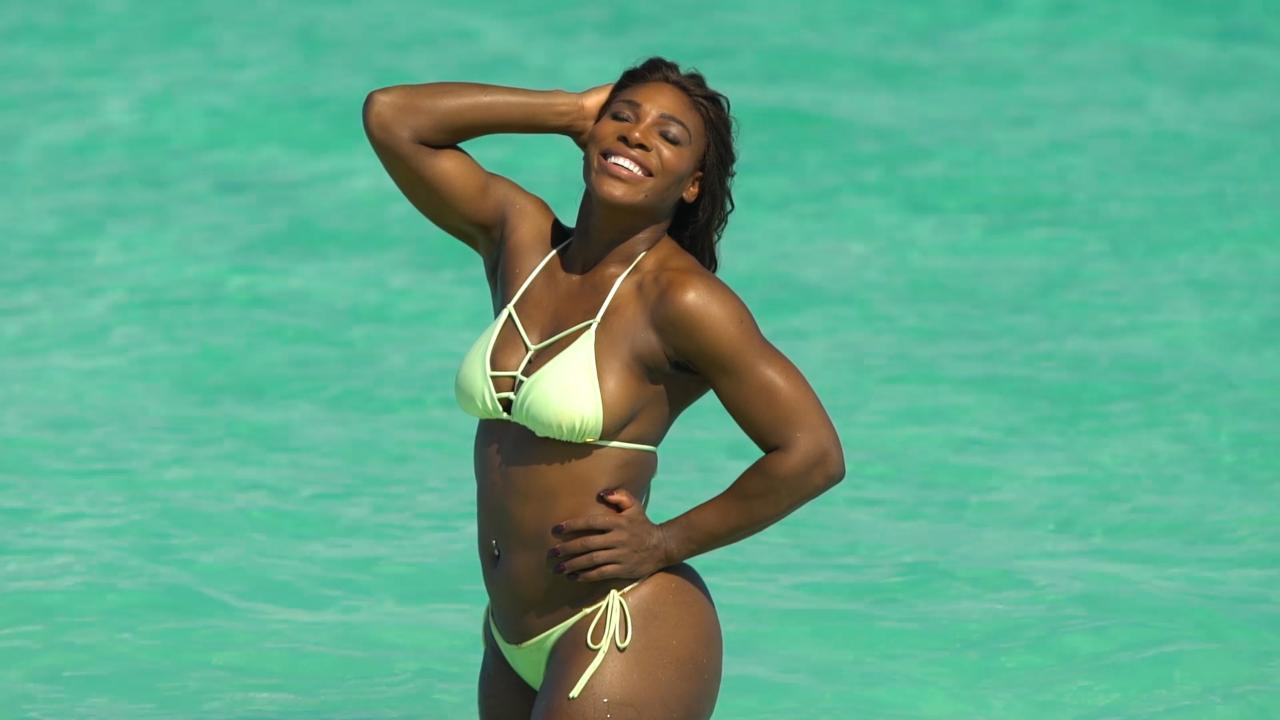 serena williams poses in thong for sports illustrated | people