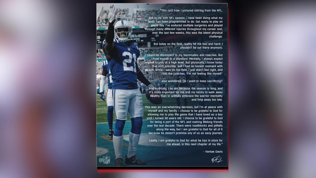 Bills' Vontae Davis Leaves Team at Halftime vs  Chargers