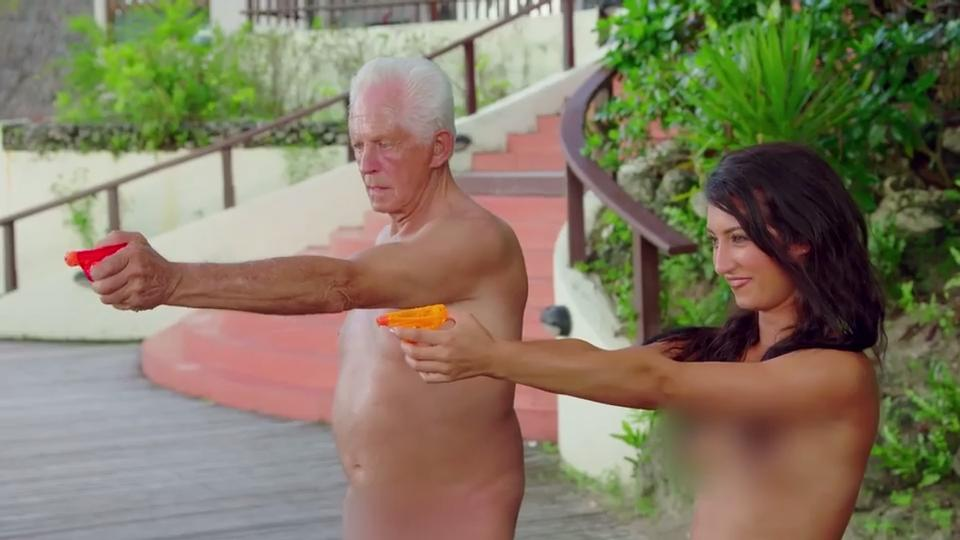 Naked grandpappas and tean