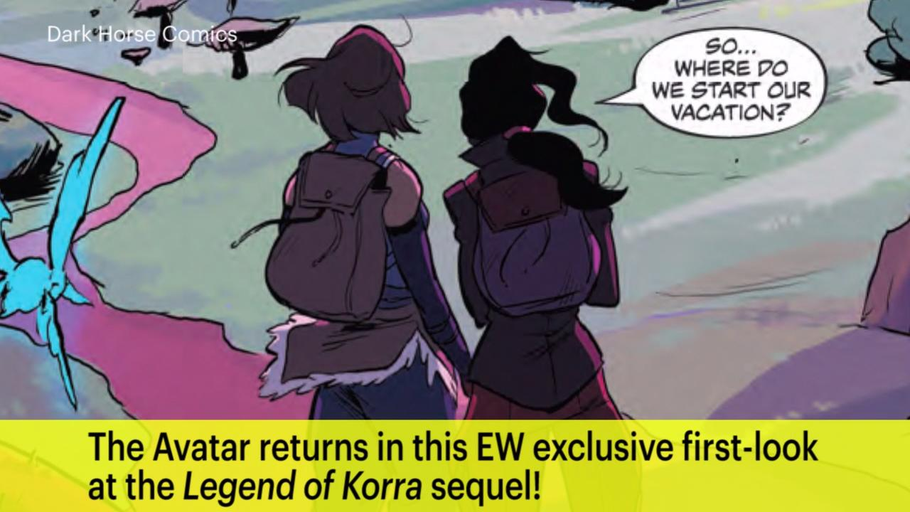 Korra and asami enjoy a date in legend of korra comic ew voltagebd Image collections